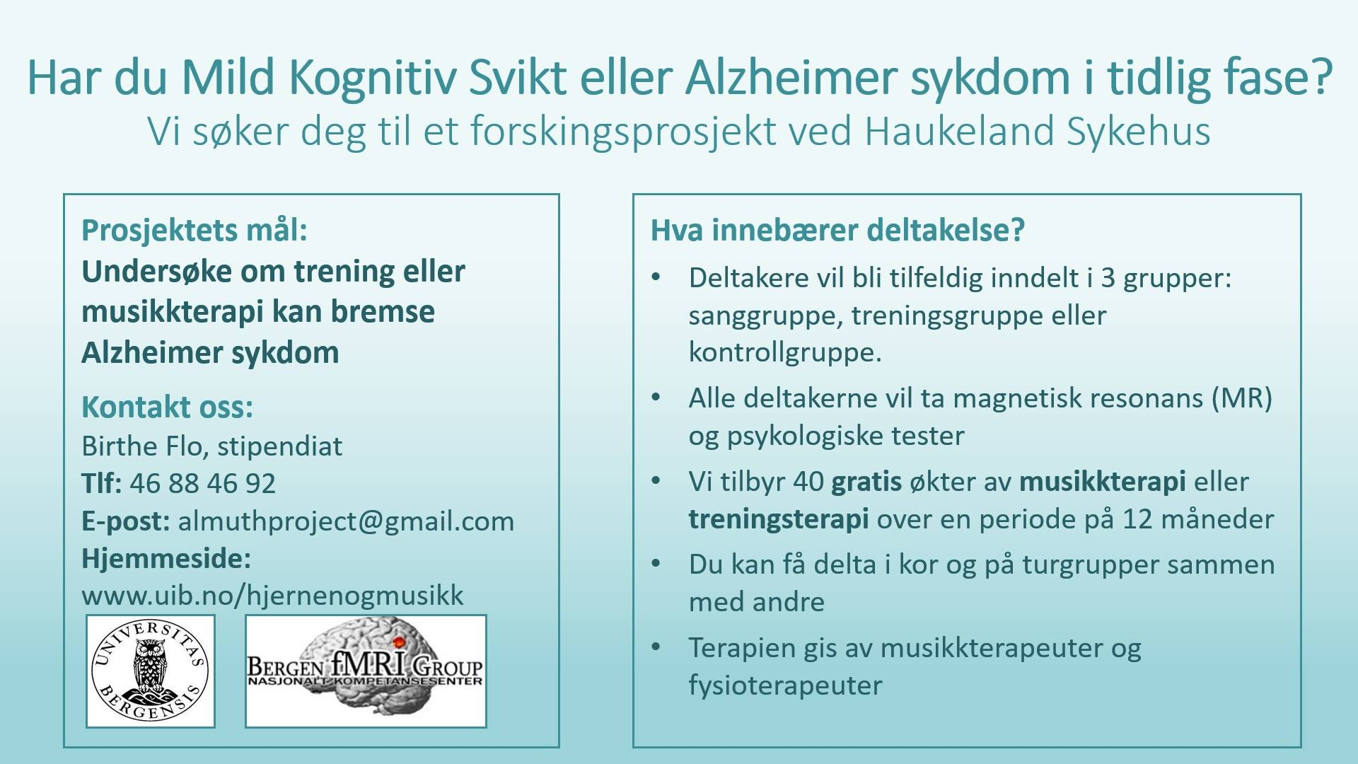 Alzheimer And Music Brain And Music Group University Of Bergen