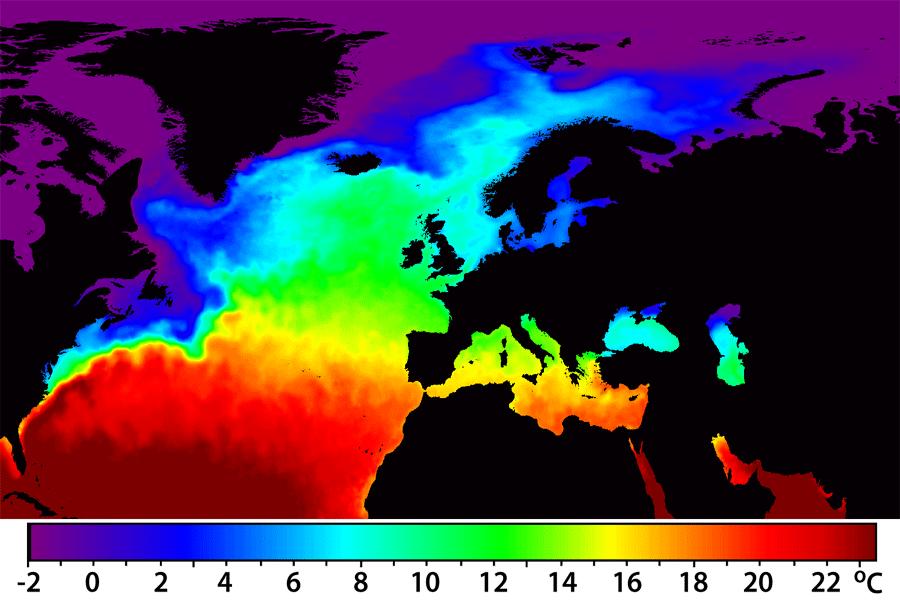 North Atlantic Seas North Atlantic Sea Surface