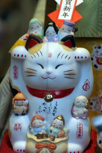 Japansk pyntefigur, katt