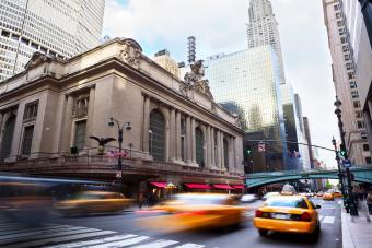 Gul taxi på Manhattan