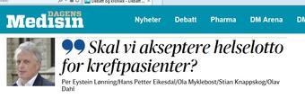 Skjermdump Dagens Medisin