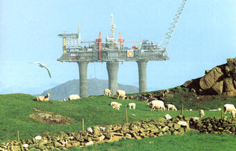 Traditional and modern land use - here from the 1970s in south-western Norway