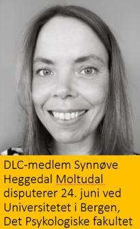 Synnøve Heggedal Moltudal disputerer 24, juni ved Universitetet i Bergen, Det Psykologiske fakultet