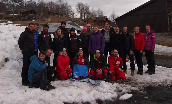 Forskere og forsøkspersoner på Mountainlab 2016