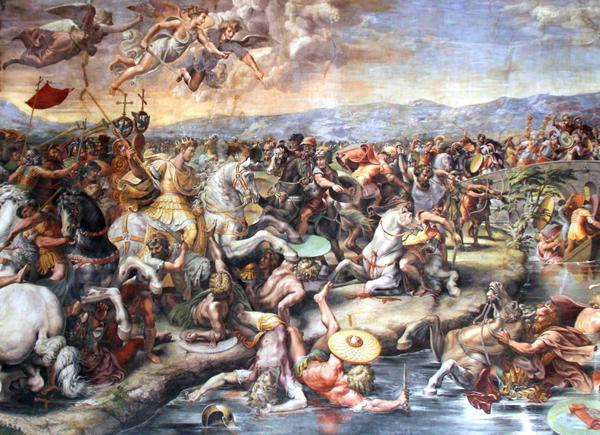 Battle of the Milvian Birdge by Giulio Romano
