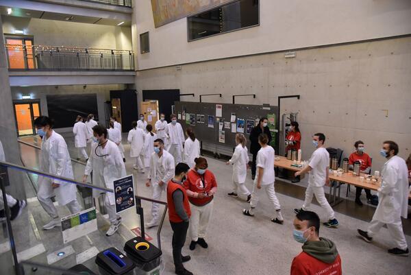 Stor aktivitet under OSKE-eksamen på 6. semester på medisinstudiet