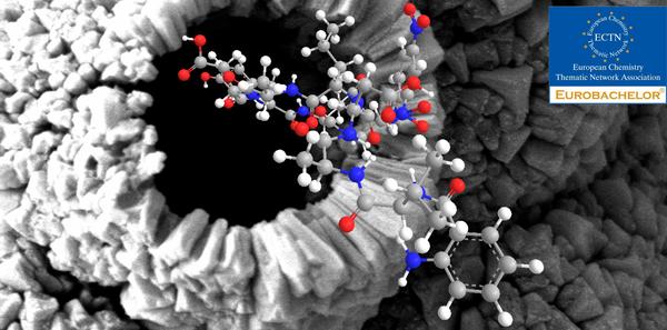 Peptid i nanoporøst materiale