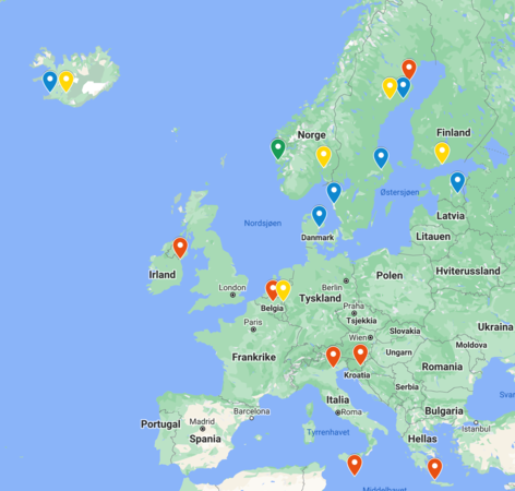 Map of GAP research partners
