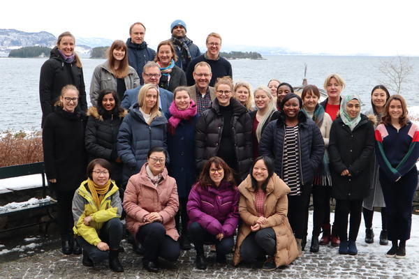 Picture of the research group for Infection and Immunity from Picture from IBA UiB, Solstrand Jan 2019