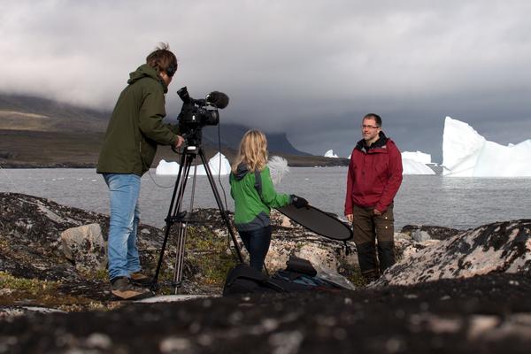 Innspilling av nettkurs på Grønland