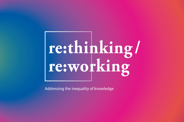 Logo for the 2019 SDG Conference Bergen with the concept re:thinking/re:working