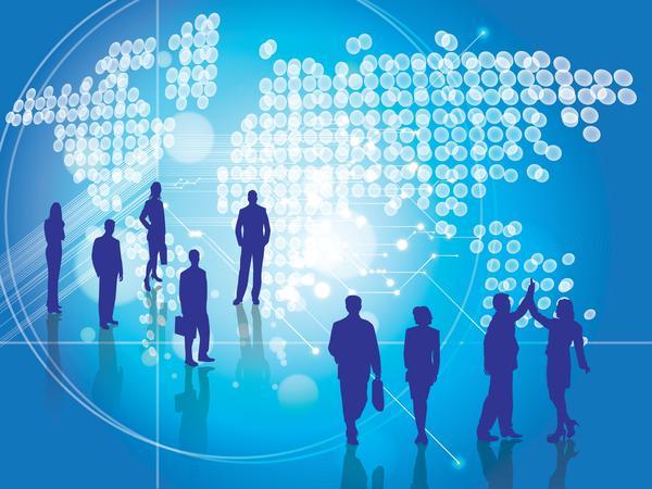 Illustrasjon av internasjonalt samarbeid