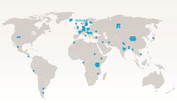 Bilde av verdenskart