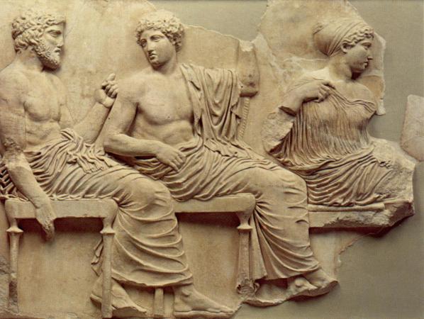 Poseidon. Fragmentet er henta frå The Acropolis Museum.