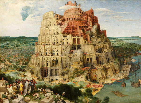 Painting of the Tower of Babel by Peter Bruegel the Elder