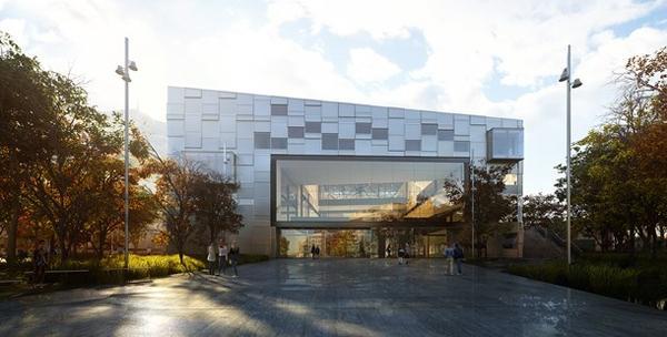 illustrasjon av nybygget til kunsthøgskolen i Bergen