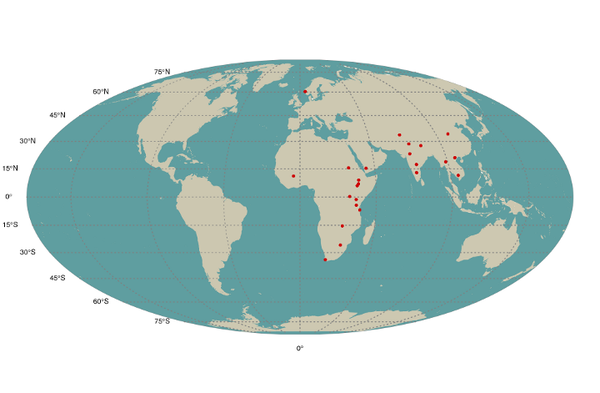 Locations of Centre for International Health's partners