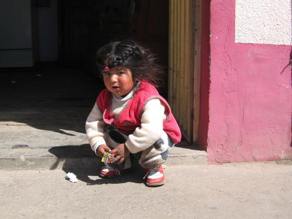 Little girl in Puno, Peru