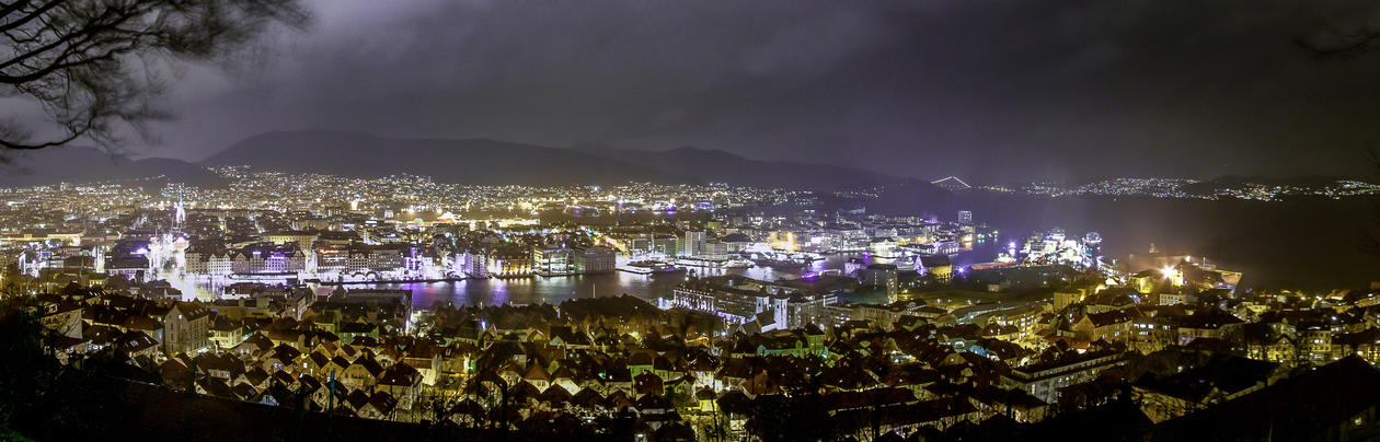 Bergen, natt