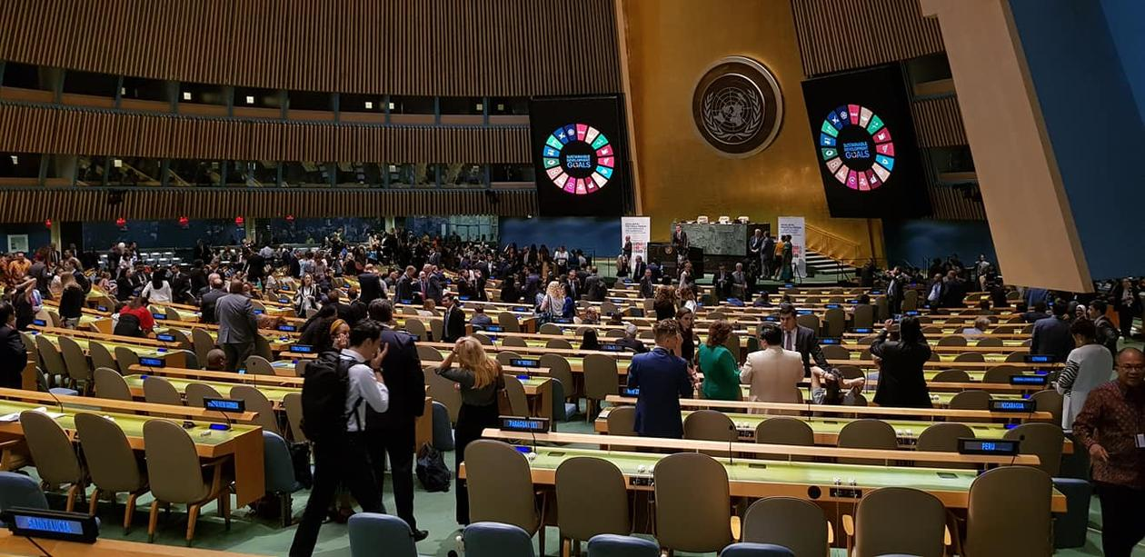 United Nations General Assembly Hall during High-level Political Forum in July 2019.
