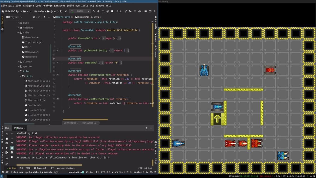 Spill utviklet i INF112