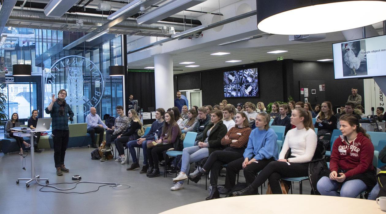 Frode Guribye forteller om informasjonsvitenskap