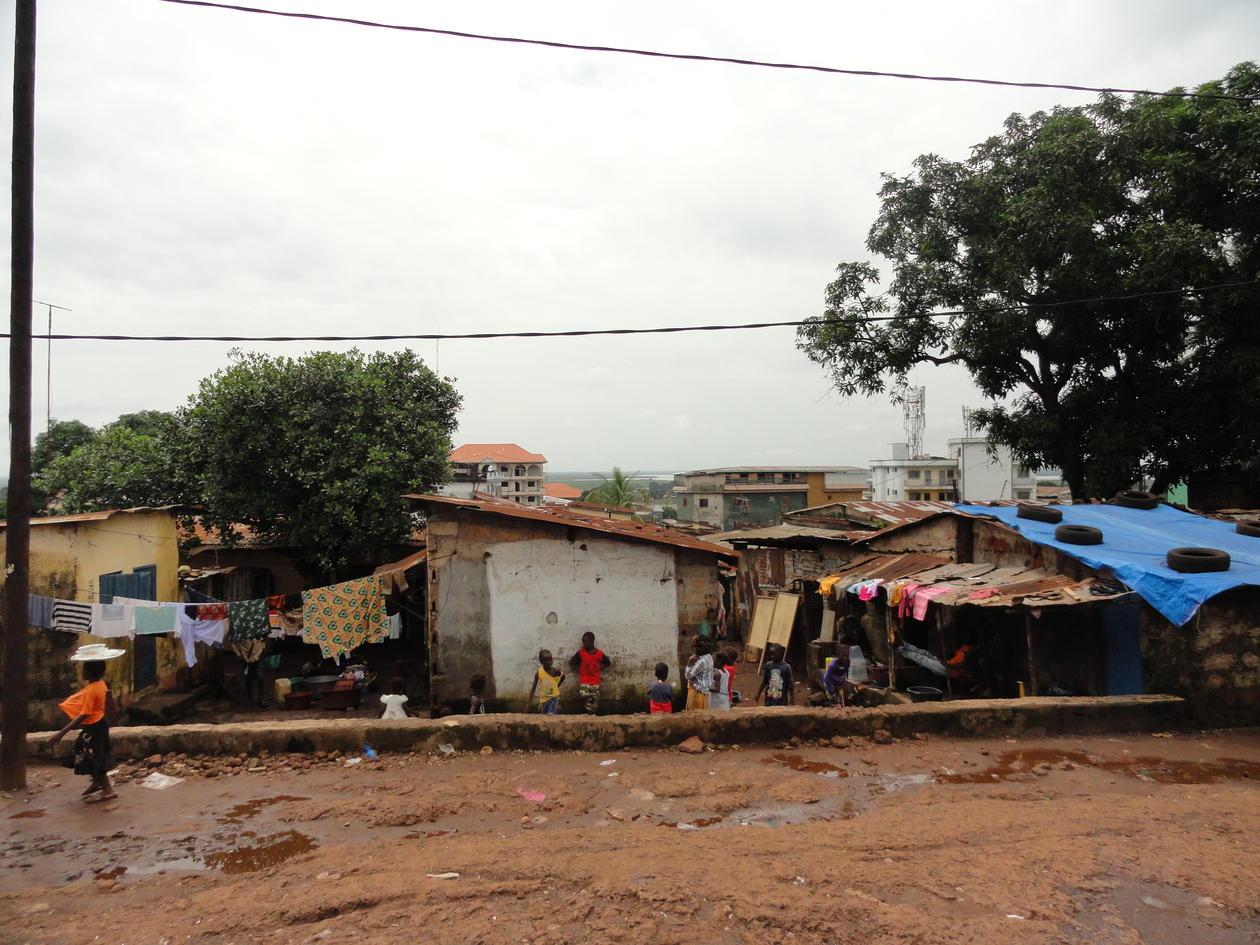 Slum i Conakry, Guinea