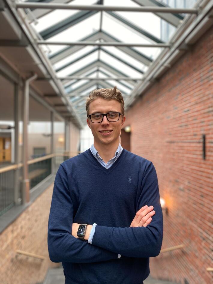 Studentkandidat Fredrik Bøhn