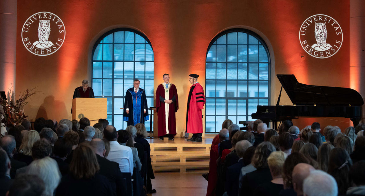 From the scene in the University Aula during the ceremony.