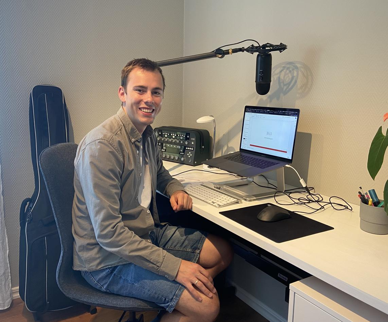 Stipendiat Knut Anders Stokke har digital undervisning i IT