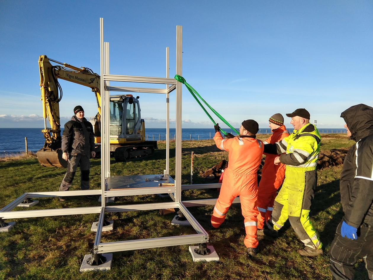 Installing the measuring equipment