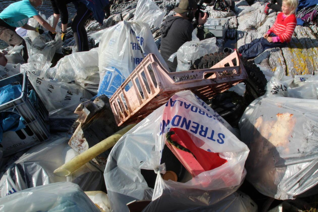 Store mengder søppel