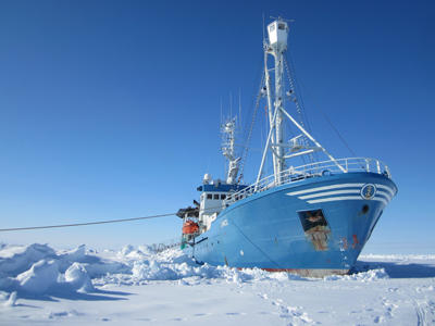 The research vessel Lance