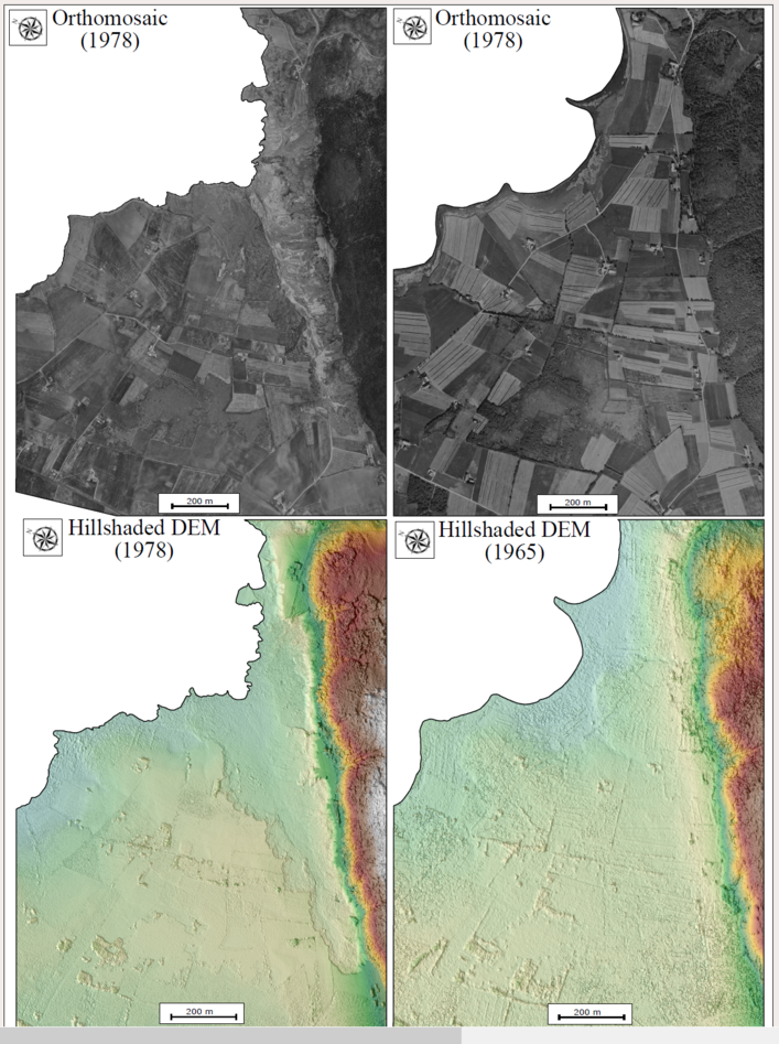 Johannes Hardeng used archived aerial photography to look at the volume of the Rissa landslide