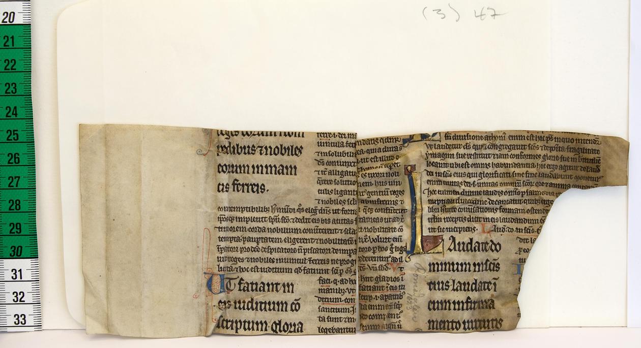 Fragment av eit fransk mellomalderhandskrift i Noreg