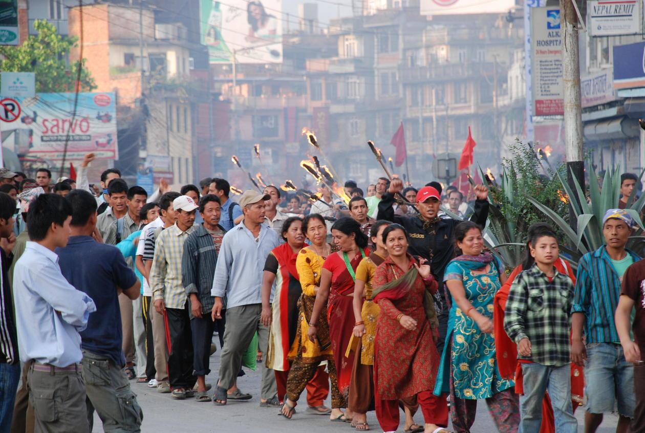Maoister i Kathmandu