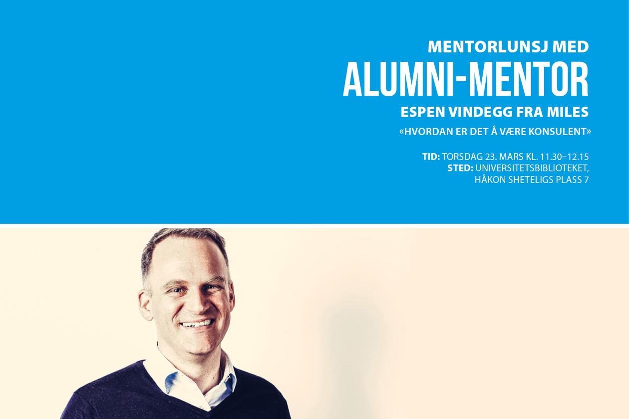 Espen Vindegg, Miles, Alumni-mentor, UiB Alumni