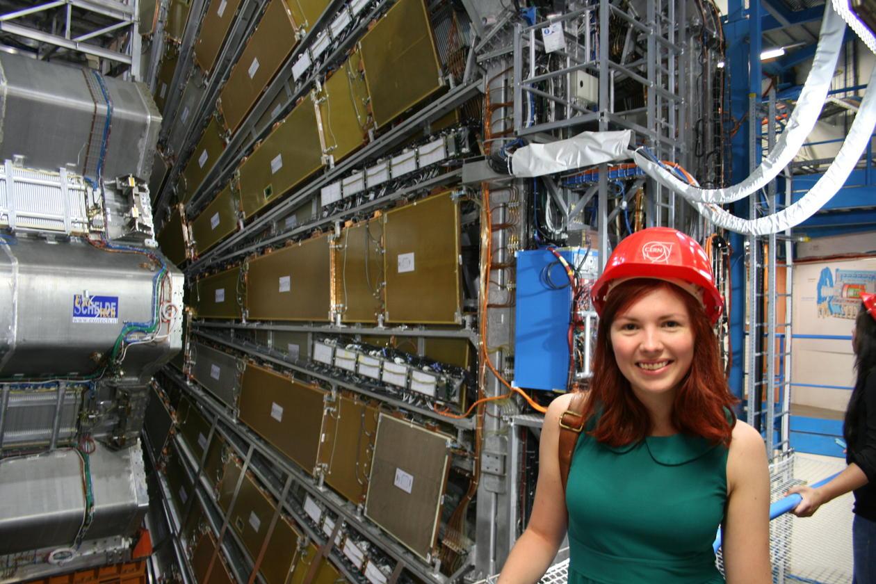 Agnethe seim Olsen fremfor ATLAS-detektoren
