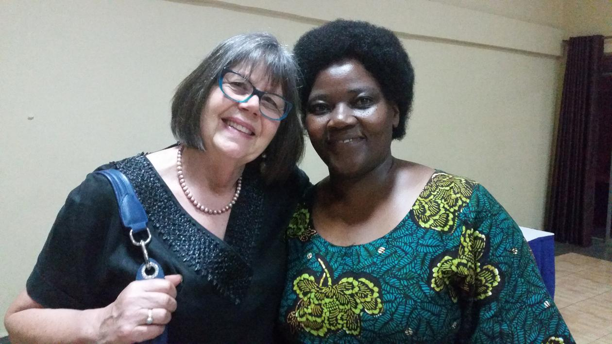 Joyce Nalugya, PhD-student Makerere University, child psychiatrist Mulago and collaborator in the SeeTheChild-mental child health in Uganda project. Alyson Hall, Honorary Consultant Child Psychiatrist, East London NHS Trust and UK Director, Child and Adol