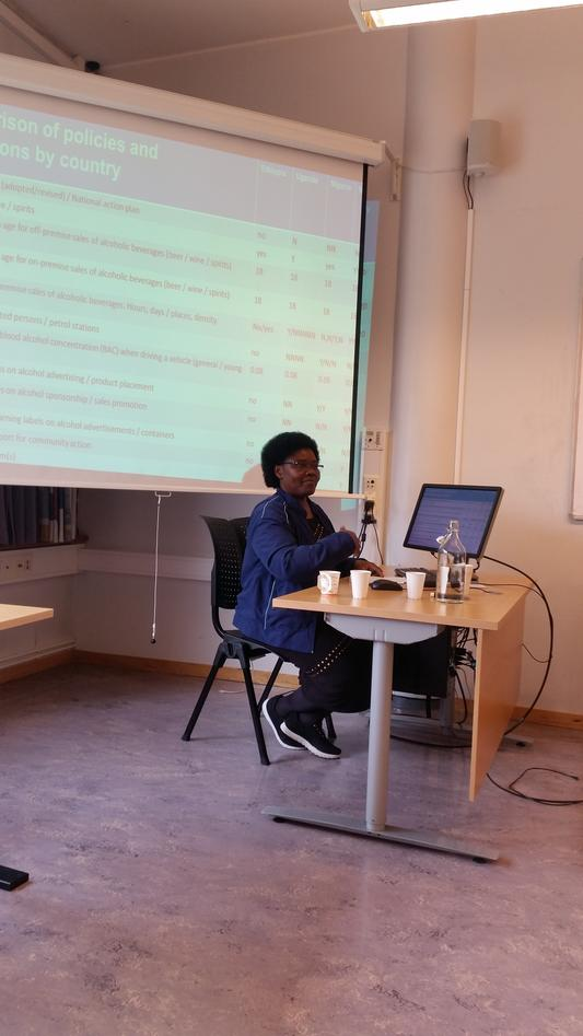 Joyce Nalugya presenting group work