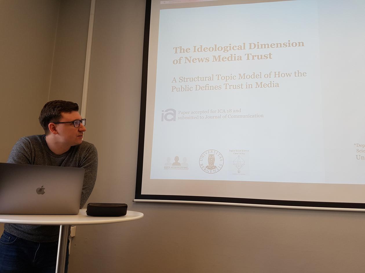 Knudsen presenting