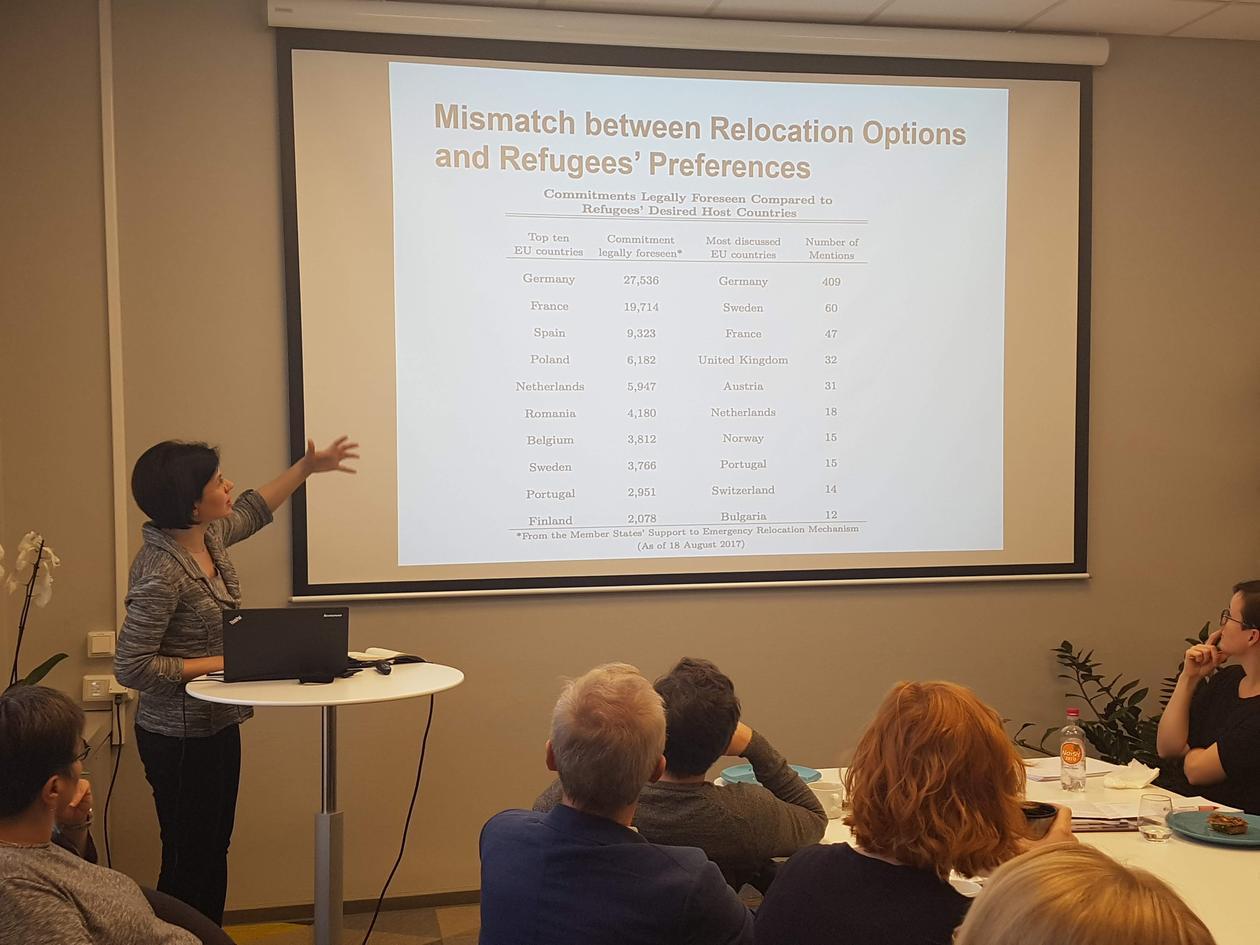 Linos presenting at seminar