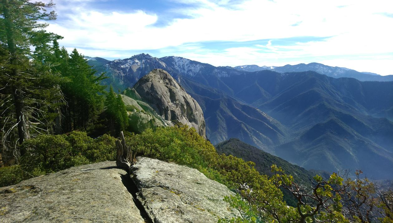 View from the Sequoia National Park, California