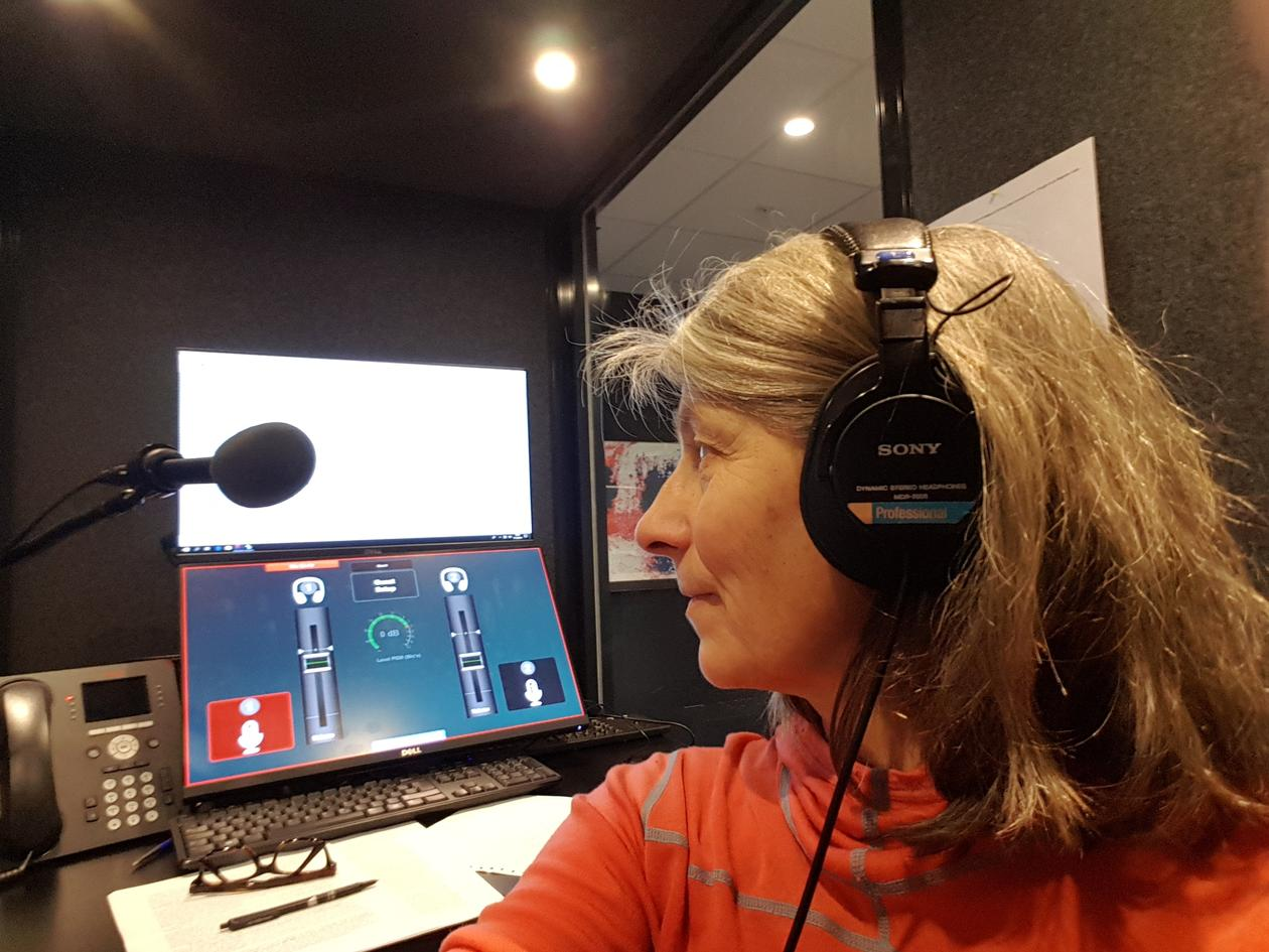 Gitte on the radio, NRK P1