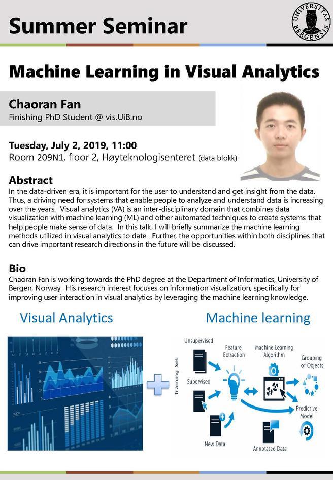 Machine learning in visual analytics