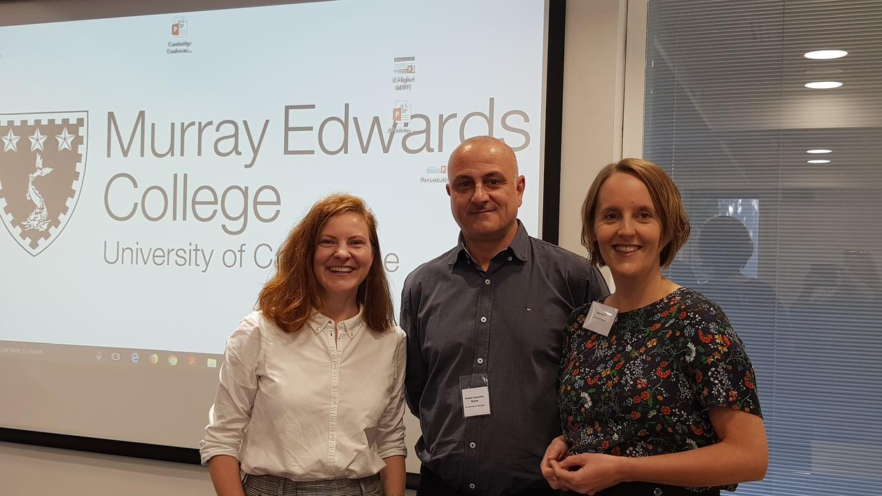 "Members of the project ""UNGSPRÅK"" after presentation in Murray Edwards College at the University of Cambridge"