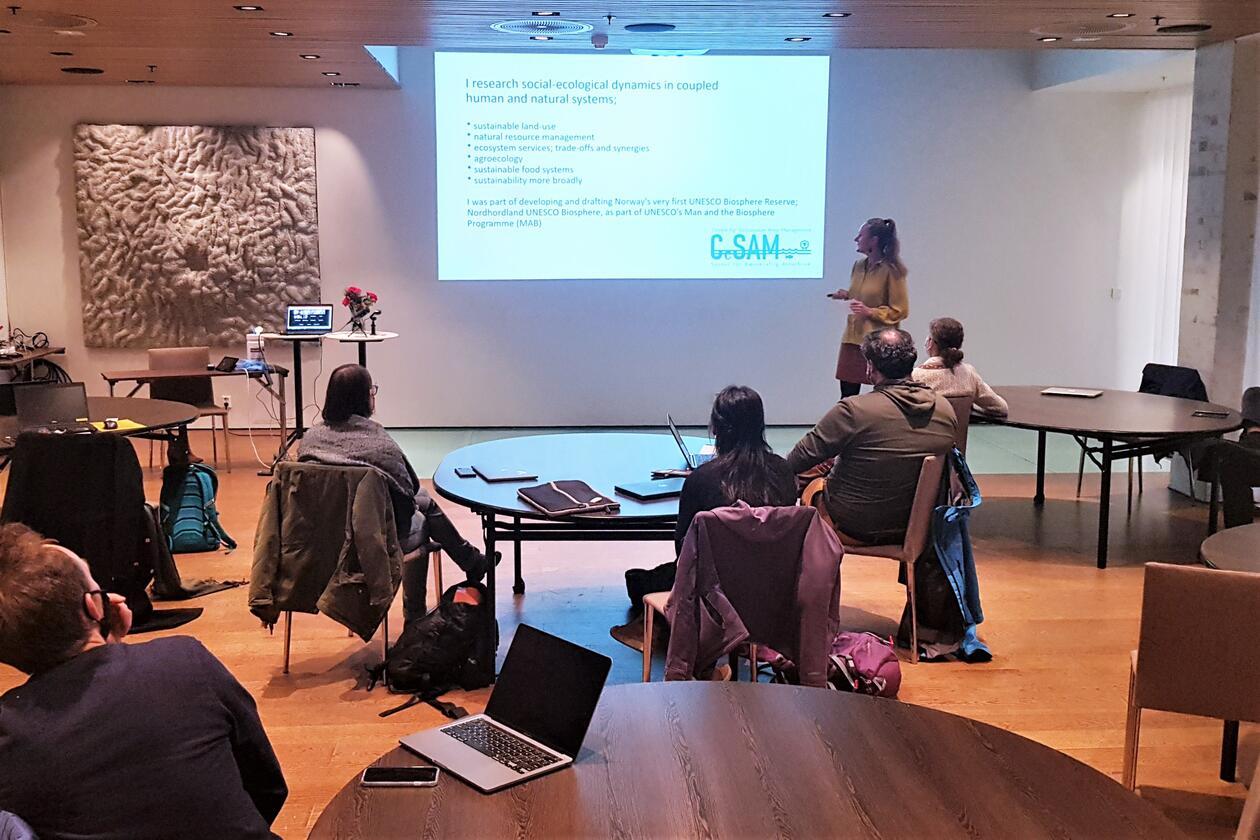 Inger Elisabeth Måren presents her research