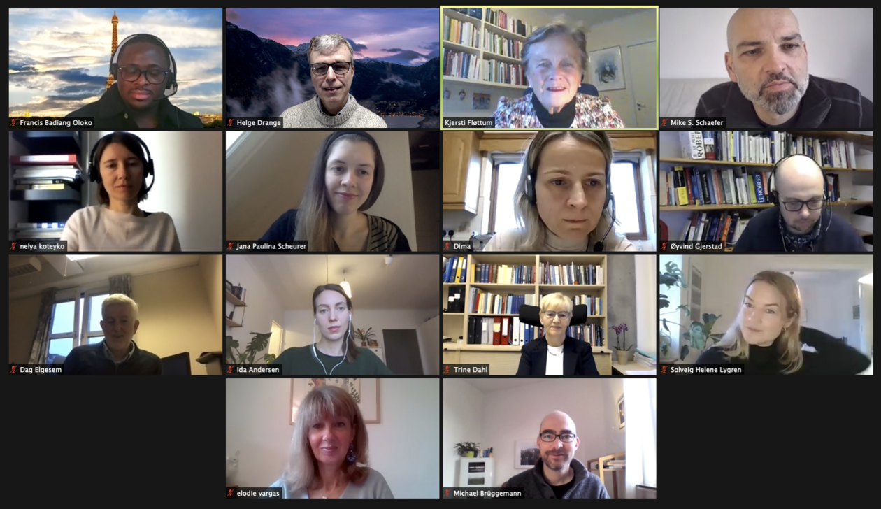 Forskergruppen med sin Scientific Advisory Committee