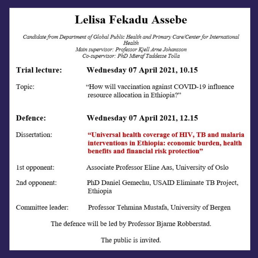 Lelisa PhD Defense