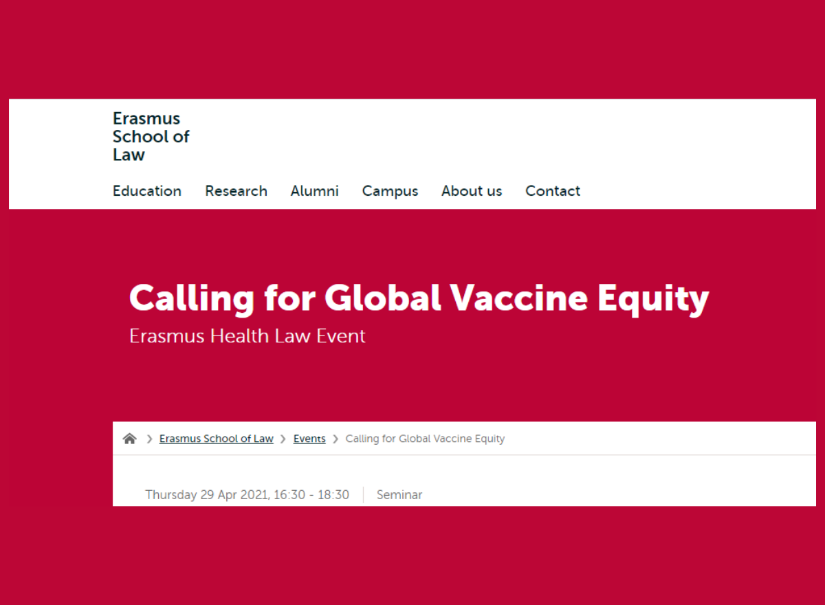 Calling for Global Vaccine Equality